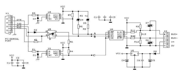 RS232-RS485 Converter circuit